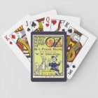 Vintage Wizard of Oz Book Cover Art, Title Page Playing Cards