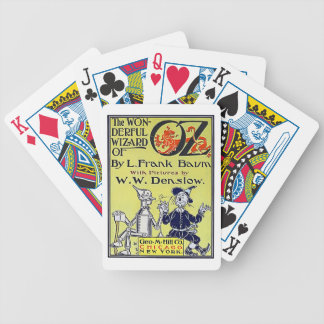 Vintage Wizard of Oz Book Cover Bicycle Playing Cards