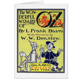 Vintage Wizard of Oz Book Cover Card