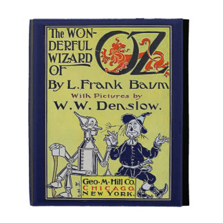 Vintage Wizard of Oz Book Cover iPad Folio Covers