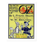 Vintage Wizard of Oz Book Cover Postcard