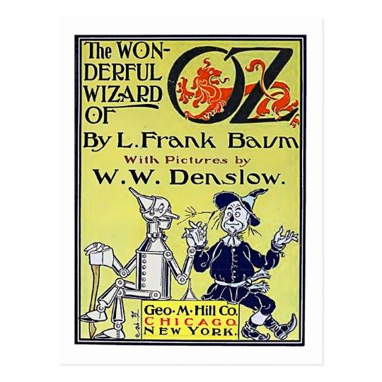 Vintage Book Cover Postcards : Vintage wizard of oz book cover postcard zazzle