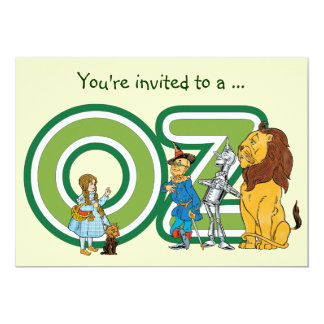 Vintage Wizard of Oz Boy Birthday Party Invitation