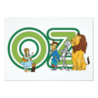 Vintage Wizard of Oz Characters and Letters 5x7 Paper Invitation Card
