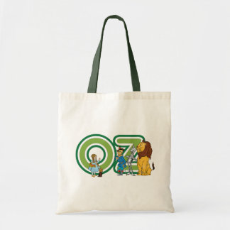 Vintage Wizard of Oz Characters and Letters Canvas Bag