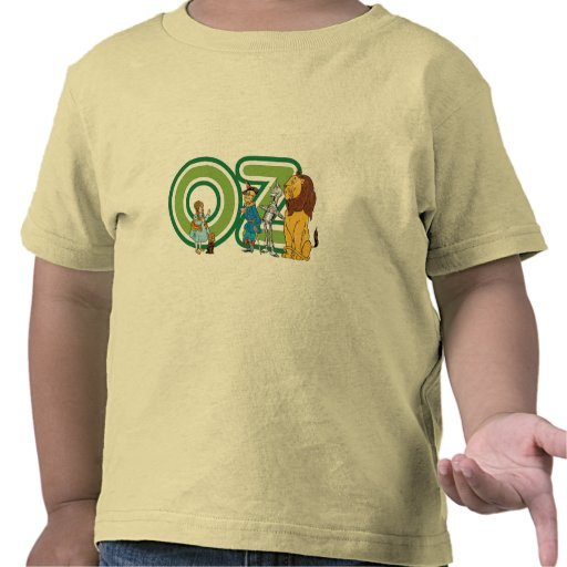 Vintage Wizard of Oz Characters and Letters Tee Shirts
