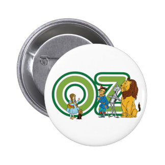 Vintage Wizard of Oz Characters and Text Letters 6 Cm Round Badge