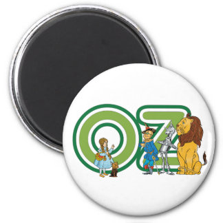 Vintage Wizard of Oz Characters and Text Letters 6 Cm Round Magnet