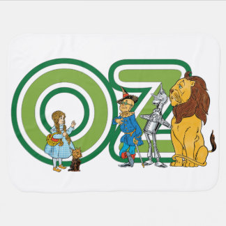 Vintage Wizard of Oz Characters and Text Letters Baby Blanket