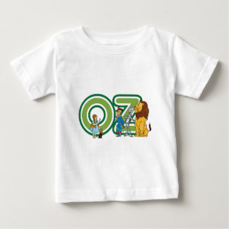 Vintage Wizard of Oz Characters and Text Letters Baby T-Shirt