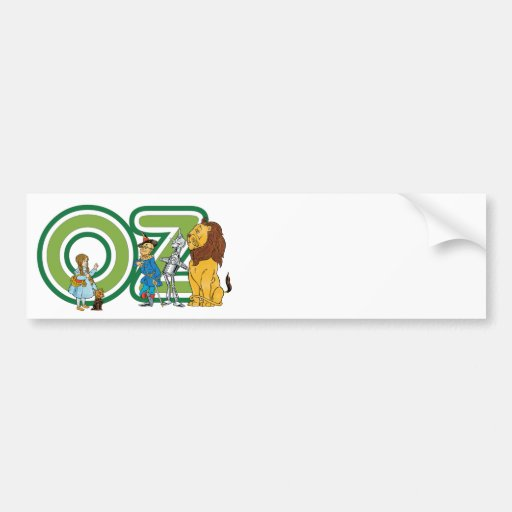 Vintage Wizard of Oz Characters and Text Letters Bumper Sticker