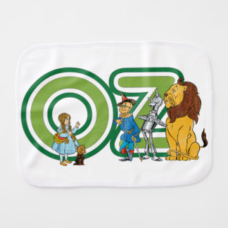 Vintage Wizard of Oz Characters and Text Letters Burp Cloth