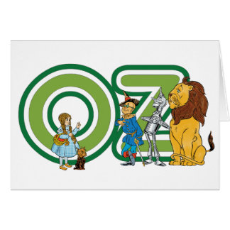 Vintage Wizard of Oz Characters and Text Letters Card