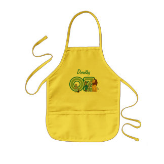 Vintage Wizard of Oz Characters and Text Letters Kids Apron
