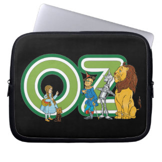 Vintage Wizard of Oz Characters and Text Letters Laptop Sleeve