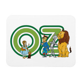 Vintage Wizard of Oz Characters and Text Letters Rectangular Photo Magnet