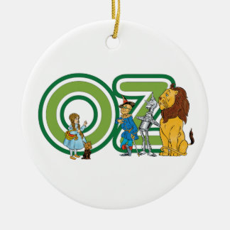 Vintage Wizard of Oz Characters and Text Letters Round Ceramic Decoration