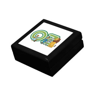 Vintage Wizard of Oz Characters and Text Letters Small Square Gift Box