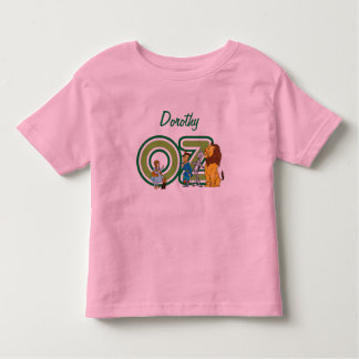 Vintage Wizard of Oz Characters and Text Letters Toddler T-Shirt