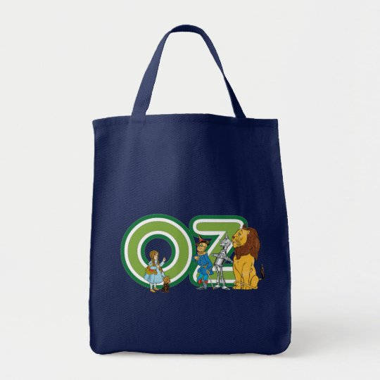 Vintage Wizard of Oz Characters and Text Letters Tote Bag
