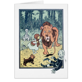 Vintage Wizard of Oz Characters, Yellow Brick Road Card