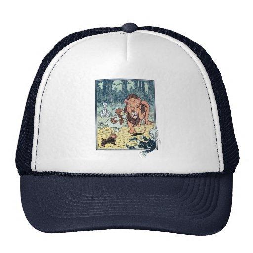 Vintage Wizard of Oz Characters, Yellow Brick Road Mesh Hats