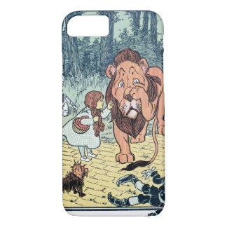 Vintage Wizard of Oz Characters, Yellow Brick Road iPhone 8/7 Case