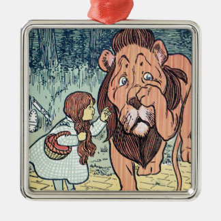 Vintage Wizard of Oz Characters, Yellow Brick Road Silver-Colored Square Decoration
