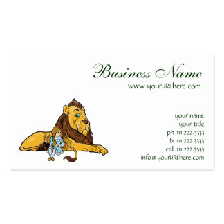Vintage Wizard of Oz, Cowardly Lion, Dorothy, Toto Business Card Templates