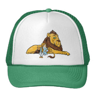 Vintage Wizard of Oz, Cowardly Lion, Dorothy, Toto Cap