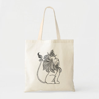 Vintage Wizard of Oz, Cowardly Lion with Crown Budget Tote Bag