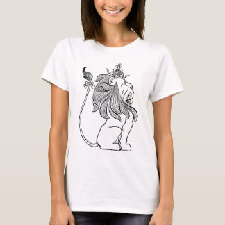 Vintage Wizard of Oz, Cowardly Lion with Crown T-Shirt
