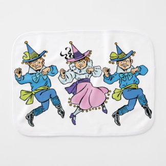 Vintage Wizard of Oz, Cute Dancing Munchkins! Burp Cloth