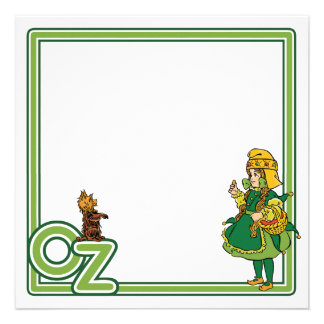 Vintage Wizard of Oz Dorothy and Toto Custom Invite