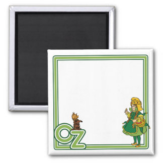 Vintage Wizard of Oz; Dorothy and Toto Square Magnet