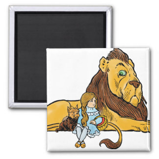 Vintage Wizard of Oz, Dorothy and Toto with Lion Magnet