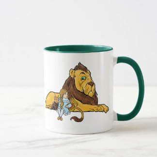 Vintage Wizard of Oz, Dorothy and Toto with Lion Mug