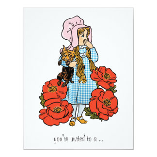 Vintage Wizard of Oz, Dorothy, Girl Baby Shower Card