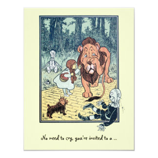 Vintage Wizard of Oz. Dorothy, Girl Birthday Party 11 Cm X 14 Cm Invitation Card
