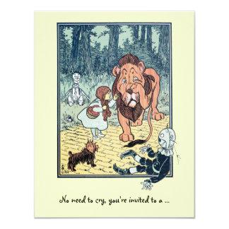 Vintage Wizard of Oz. Dorothy, Girl Birthday Party 11 Cm X 14 Cm Invitation Card