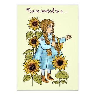 Vintage Wizard of Oz Dorothy, Girl Birthday Party 13 Cm X 18 Cm Invitation Card