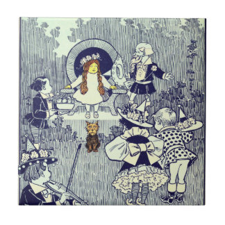 Vintage Wizard of Oz, Dorothy Meets the Munchkins Small Square Tile