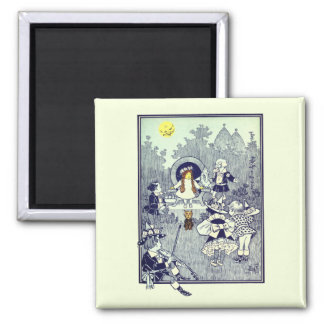 Vintage Wizard of Oz, Dorothy Meets the Munchkins Square Magnet