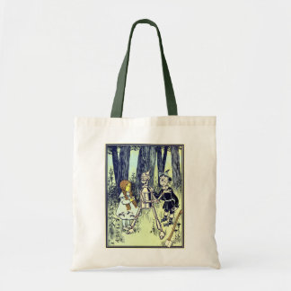 Vintage Wizard of Oz, Dorothy Meets the Tinman Budget Tote Bag