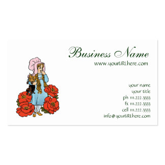 Vintage Wizard of Oz, Dorothy, Red Poppy Flowers Pack Of Standard Business Cards