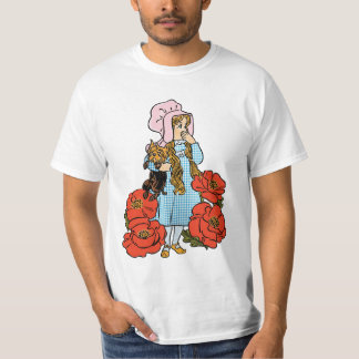 Vintage Wizard of Oz, Dorothy, Red Poppy Flowers T-Shirt