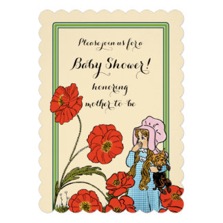 Vintage Wizard of Oz, Dorothy Toto, Baby Shower Custom Announcements