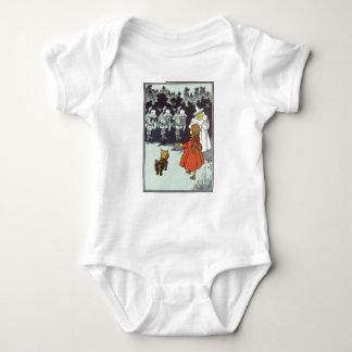 Vintage Wizard of Oz Dorothy Toto Glinda Munchkins Baby Bodysuit