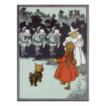 Vintage Wizard of Oz Dorothy Toto Glinda Munchkins Posters