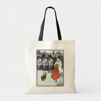Vintage Wizard of Oz Dorothy Toto Glinda Munchkins Budget Tote Bag